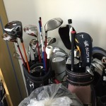 愛用のゴルフクラブたちと一旦さよならしました。今までありがとう。