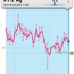 体重と体脂肪率の変化について… なんとなく変化したかな【1日1食チャレンジ日記】
