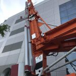 東京・上野 国立科学博物館 ラムダ・ロケット用ランチャがあった 日本初の人工衛星「おおすみ」打ち上げに使用
