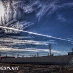 Aerial cloud @SOKA / 飛行機雲 @草加